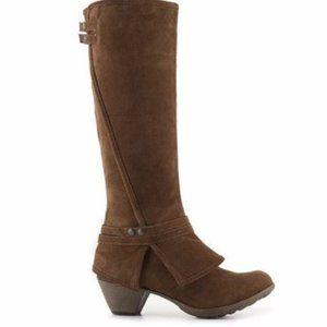 Crown Vintage Bessie Boots Brown Suede Size 11M